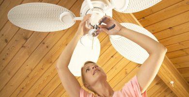 Como arreglar un ventilador de techo que no gira o gira lento
